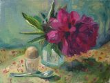 No.19 – Peony With Egg and Spoon 2020SOLD•