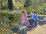 By the Lily Pond, Evening Light